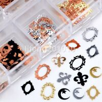 Mixed style metal nail foil slice decals 3d nail art decoration sequins frame #5