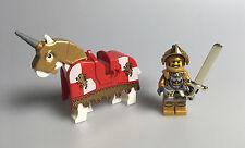 LEGO® Ritter Castle Kingdoms 1x Figur Goldener Ritter mit Pferd aus Set 7079