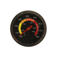 """2.5"""" BBQ Pit Smoker Grill Stainless Steel Thermometer Gauge Temp Barbecue Cook"""