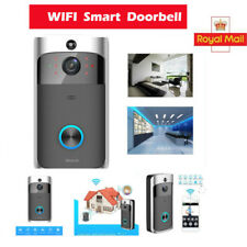 WiFi Wireless Video Doorbell Two-way Talk Smart Door Bell Security Camera UK