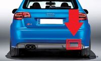 NEW GENUINE AUDI S3 08-13 REAR BUMPER TOW HOOK COVER CAP GREY 8P4807441C 1RR