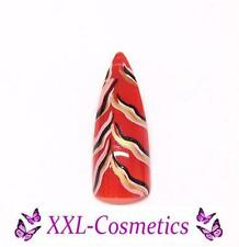 100 Airbrush Stiletto Tips Design Nails Rot Gold in Tipbox #AST-4