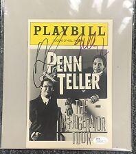 Penn and Teller Signed Play Bill JSA COA Signed