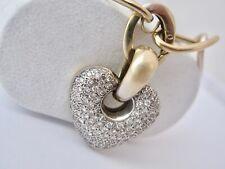 Colgante Corazón Y Cadena Con 2,40 Qt. Brillantes 750/18 Quilates Oro