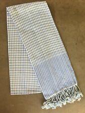 Krama BLEU traditionnel Echarpe Khmère en coton Tissé mixte scarf Cambodge 99