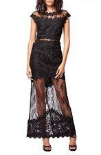 NEW! $300 Topshop Illusion Lace Maxi Dress Black [SZ 4 US/ 8UK/ 36EU] #M176