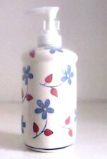 Portasapone liquido ceramica decorato bianco shabby bagno cucina