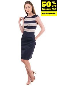 PME PESERICO Skirt Dress Size 40 / XS Two Tone Striped Crew Neck  Made in Italy