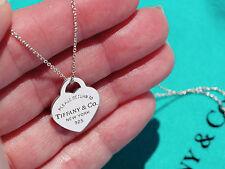 Tiffany & Co Vuelta A Tiffany Plata Pequeña Corazón Placa Collar