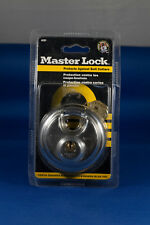 Master Lock 2-3/4-Inch Round Padlock with Shielded Shackle, Stainless Ste,No 40D