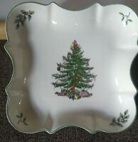 Spode Serving Bowl Tray Classic Christmas Tree Devonia Candy Dish 8x8