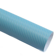 DIN A4 Wrapping Folie 3D Carbon Hell Blau 21cmx29,7cm Autofolie mit Luftkanälen