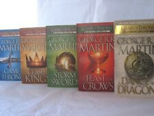 Game of Thrones / Song of Ice and Fire #1-5: Series by George R.R. Martin MM PB