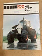 Old Case Farm Tractor 3294 Constant Traction Tractor FWA LITERATURE brochure