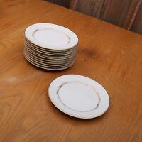 12 Mikasa Stanton 5405 Bread Plates Gold Flowers