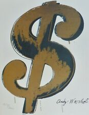 ANDY WARHOL $ DOLLAR SIGN SAND SIGNED & HAND NUMBERED 2704/3000 LITHOGRAPH