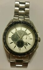 DKNY 3 Hand Chronograph Luxury Tachmeter Men's watch #NY1486 Pre Owned