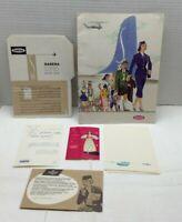 1955 Sabena Belgian Airline Brochure pamphlet Lot  Pk3