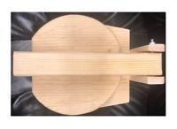 "Round Wood 8"" Manual Flower Corn Wooden Tortilla Maker Press Gorditas Bunuelos"