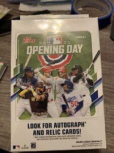 2021 MLB Topps Opening Day Baseball Hanger Box Factory Sealed Packs 35 Cards_B