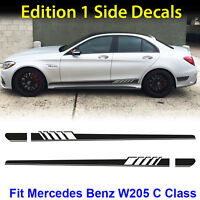 AMG Edition C63 Edition 1 Side Stripe Decals Stickers Mercedes Benz C Class W205