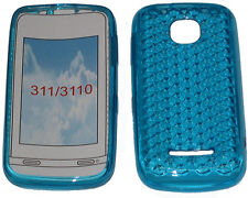 For Nokia Asha 311 / 3110 Pattern Soft Gel Case Cover Protector Pouch Sky Blue