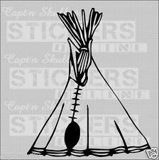 INDIAN TEEPEE DECAL 150x180mm Captn Skullys Stickers Online MPN 321 MULTIPURPOSE