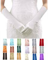 "Women's Satin Dress Vintage Wedding Tea Party Dance cosplay Gloves 15 """