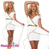 Ladies Cleopatra Egyptian Roman Toga Robe Greek Goddess Fancy Dress Costume