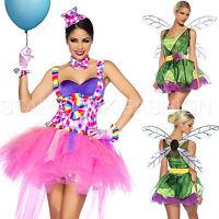 Candy-Kostüm Cupcake Fee-Kostüm Clown-Kostüm Damen Karneval Fasching Feenkostüm
