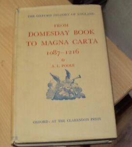 1951 - FROM DOMESDAY BOOK TO MAGNA CARTA  - OXFORD HISTORY OF ENGLAND 1st DJ