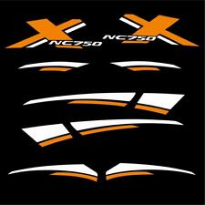 ADESIVI DECAL STICKERS HONDA NC750X NC 750 X CARENA GRAFICA BIANCO ARANCIO