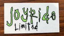"Joyride Snowboards Vintage Sticker Limited  2.5"" 1996 rare"