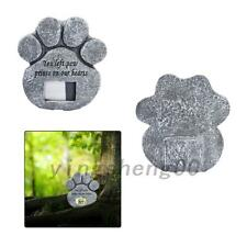 Pet Paw Print Devotion Garden Stone Memorial Picture Grave Dog Cat Marker