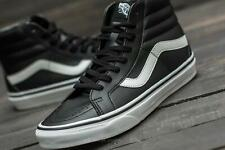 VANS Black Leather SK8 High Top Trainers Mens Size 8
