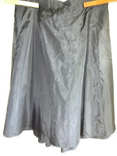 Recollections Victorian Style Skirt 4XL 30-32 Black Taffeta Steampunk Cosplay