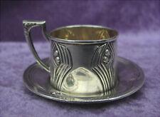 Rare antike Tasse Silber Werkstätte Wien Jugendstil um 1900