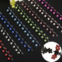 12Pcs Hot Girls Hair Clips Sweet Rhinestone Crystal Flower Mini Kids Accessories