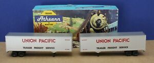 Athearn 5173 HO 40' trailer UP Union Pacific  kit (2 pack) Built Boxed