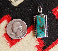 Navajo Sterling Silver Pendant with King's Manassa Turquoise