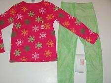 Gymboree Cheery All The Way Girls Size 7 Top Snowflake Green Leggings NWT NEW