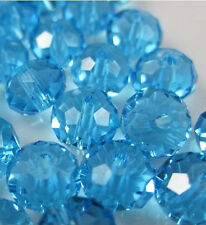NEW Jewelry Faceted 100pcs Rondelle crystal #5040 3x4mm Beads Lake Blue BZY81