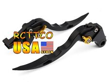 Black Blade Brake Clutch Levers For Kawasaki ZX6R/ZX636R/ZX6RR 00-04 ZX10R 04-05