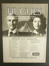 8/1984 PUB HUGHES AIRCRAFT COMPANY RADAR SYSTEMS GROUP ORIGINAL AD