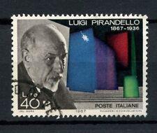 ITALIA 1967 SG # 1185 LUIGI PIRANDELLO USATO #A 40306
