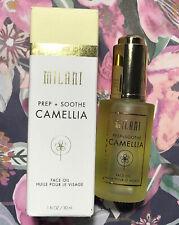 Milani Prep + Soothe Camellia Face Oil Grape Seed Sunflower Sweet Almond Oil
