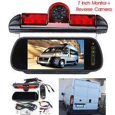 """170°Telecamera Posteriori Freno Luce + 7""""Monitor Per Fiat Ducato Citroen Peugeot"""