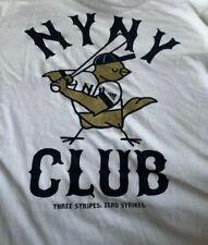 Nwt Adidas NY Yankees Three Stripes Baseball Club T Shirt Size Large White Y13