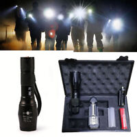Rechargeable Tactical LED Flashlight XML-T6 Torch Lamp Five Mode