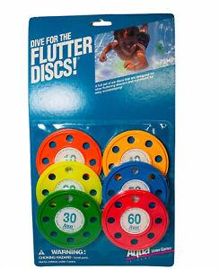 Vintage 1993 Flutter Discs Summer Pool Fun Dive Game Aqua Leisure Ages 6+ USA
